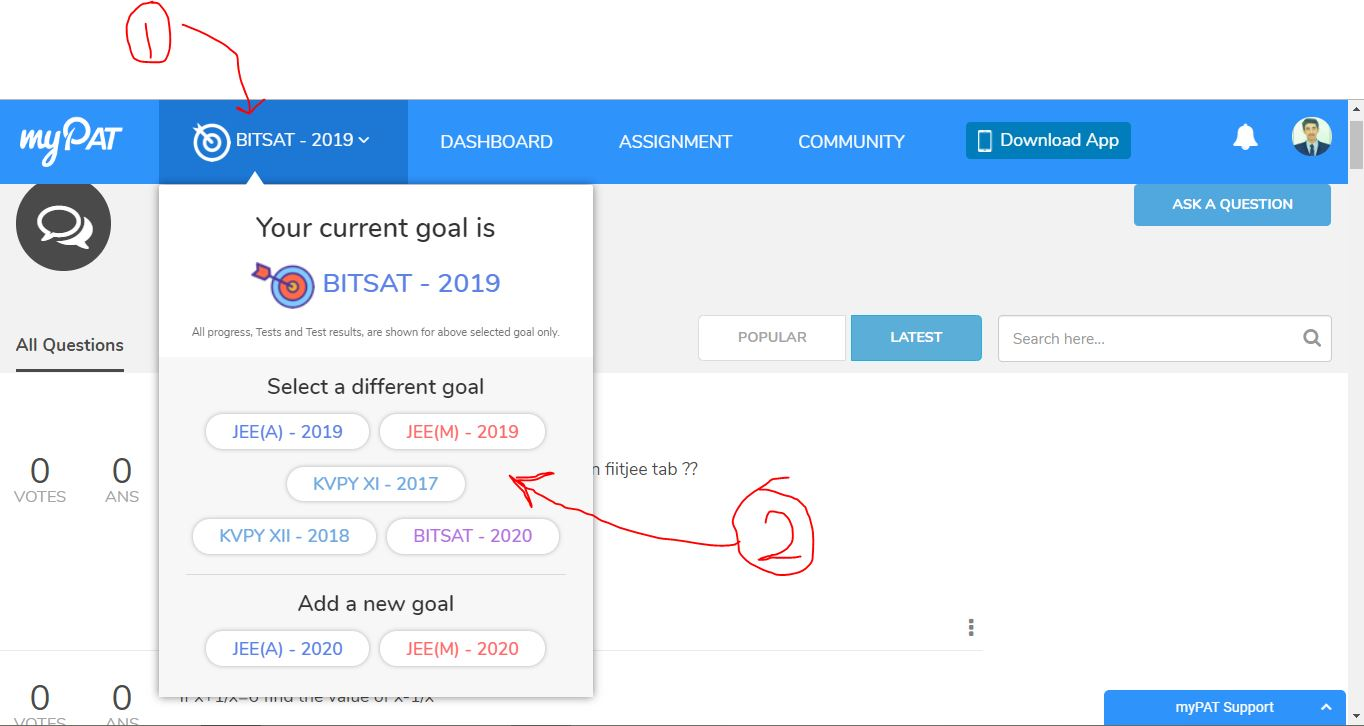 How to change our goal in goal setting applications in
